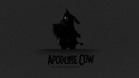 Apocalypse Cow Wallpaper - Gray
